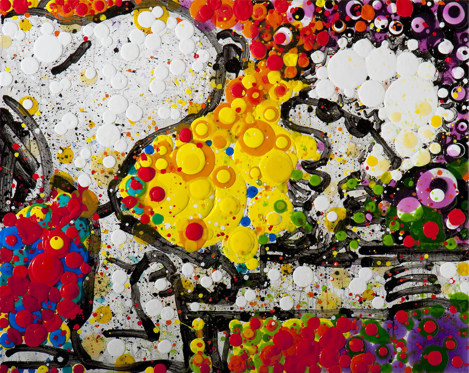 Who Knew Andy Could Sing   acrylic and varnish on wood   48″ x 60″   2010