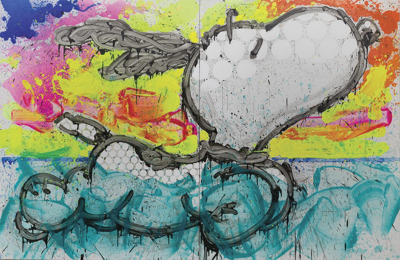 Super Bad | acrylic on canvas | 84″ x 128″ | 2014