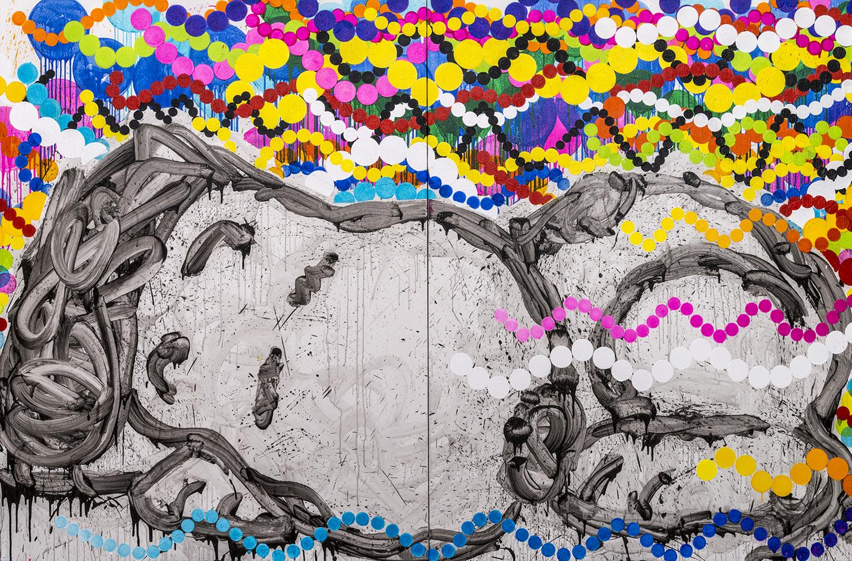 OG Dogg | acrylic and varnish on canvas | 84″ x 128″ | 2013