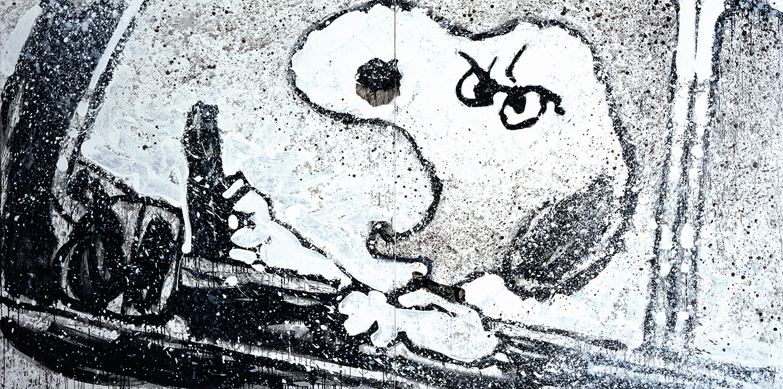 Rage Rover   acrylic enamel and varnish on canvas   64″ x 128″   2000