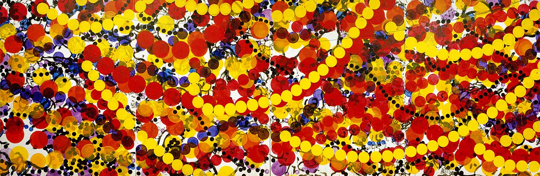 Rollin' With The Homies | acrylic on canvas | 84″ x 256″ | 2002-2012