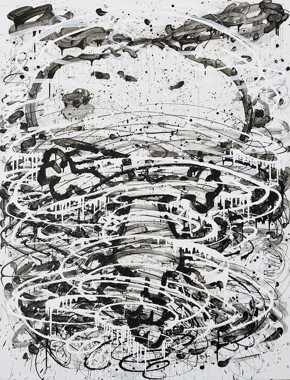 Psycho Cyclone | Acrylic on Canvas | 84' x 64' | 2015
