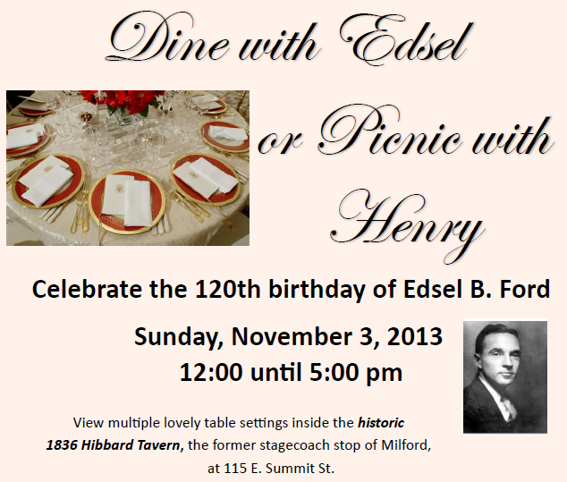 Dine with Edsel