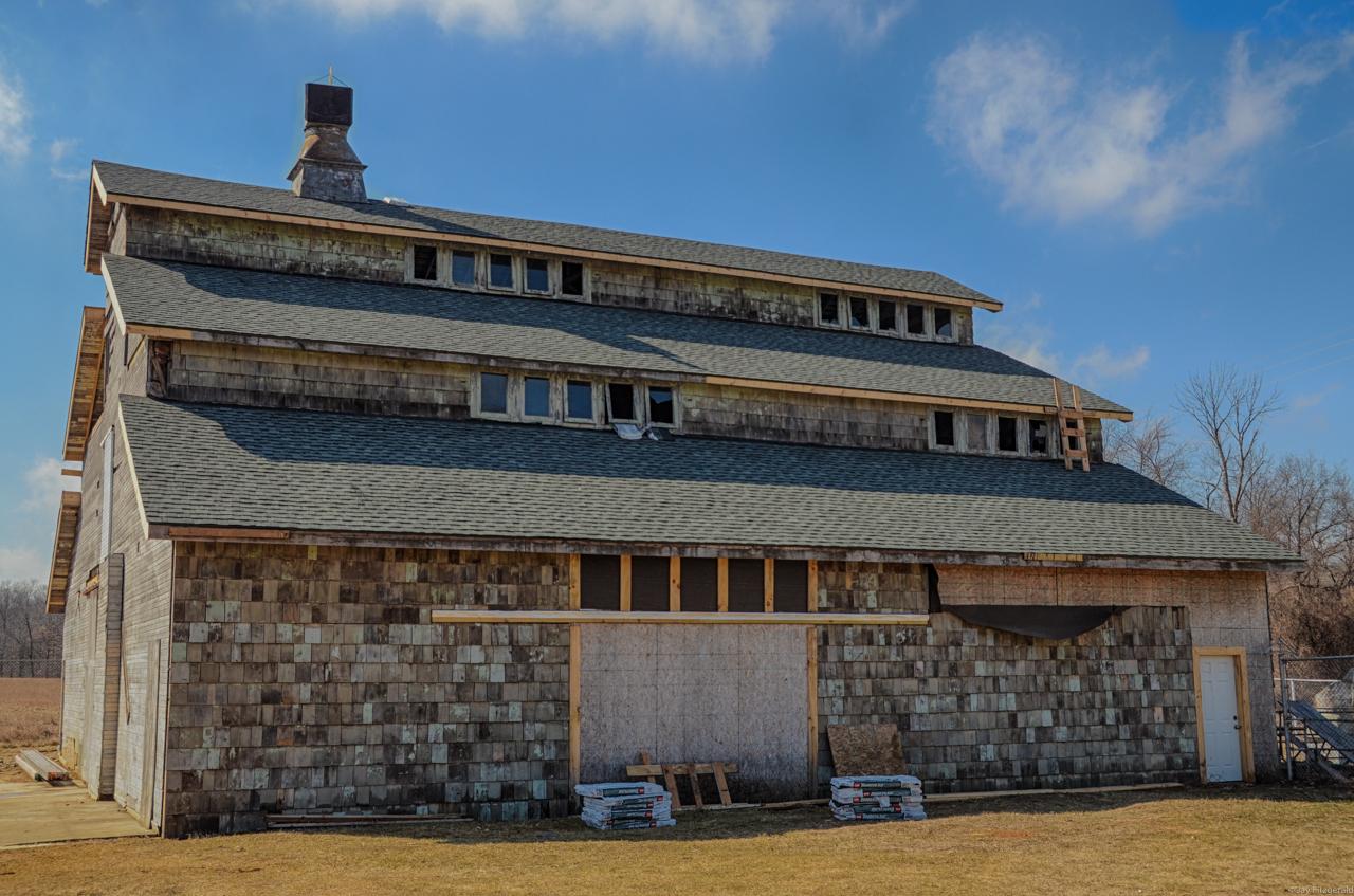 Edsel Ford Barn New East Roofing 032515-.jpg