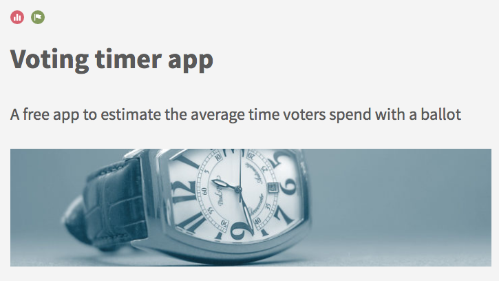 The Toolkit's new Voting Timer App