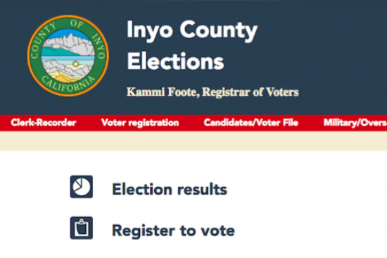 Inyo County's election website