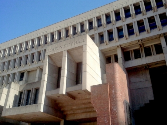 Boston's City Hall building, home to the city's Election Department