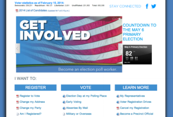 Wake County's new and improved Board of Elections homepage