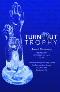 Poster promoting the Turnout Trophy Award Ceremony. Photo courtesy of Cumberland County.