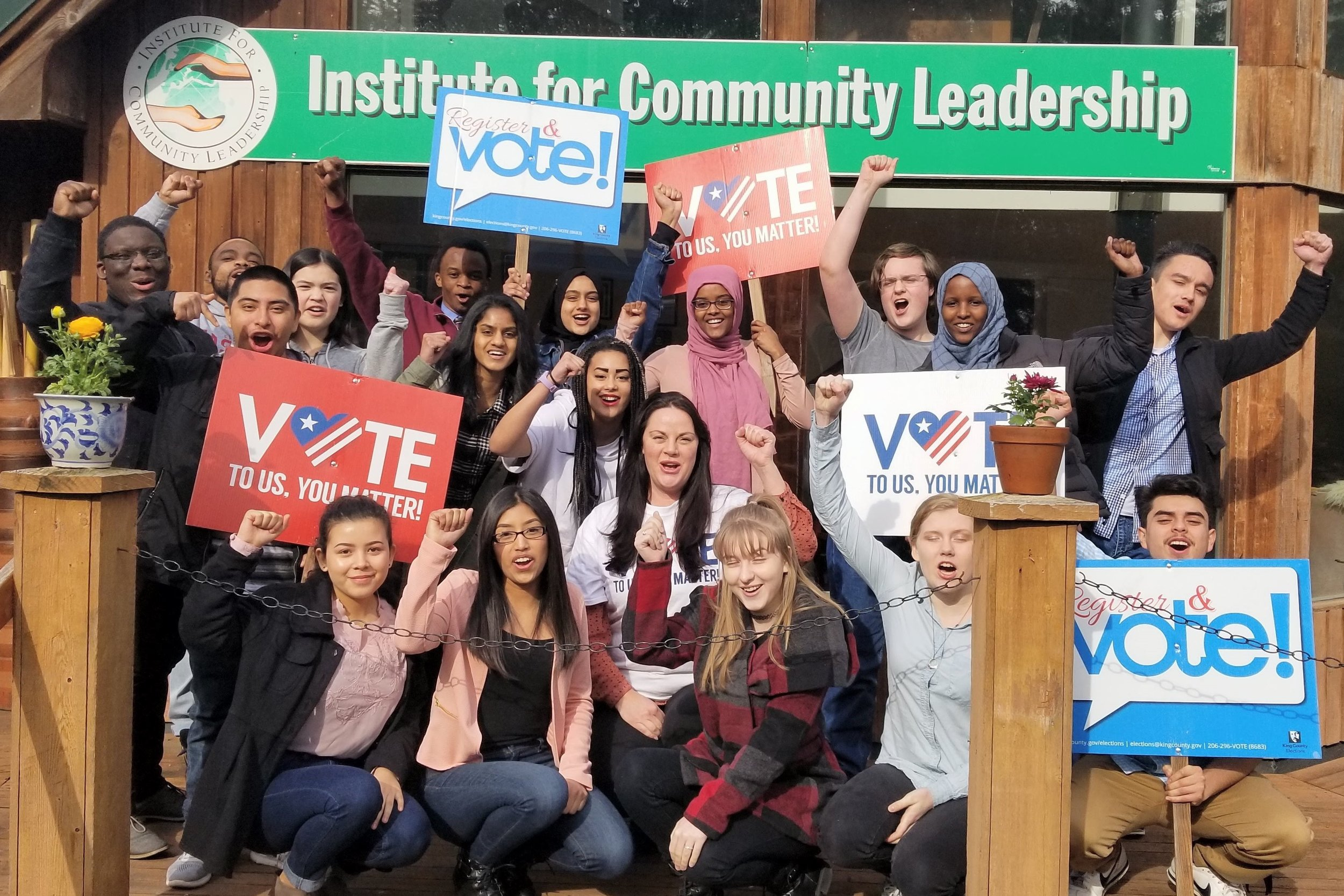 The Institute for Community Leadership, a Voter Education Fund grantee. Photo courtesy of King County Elections.