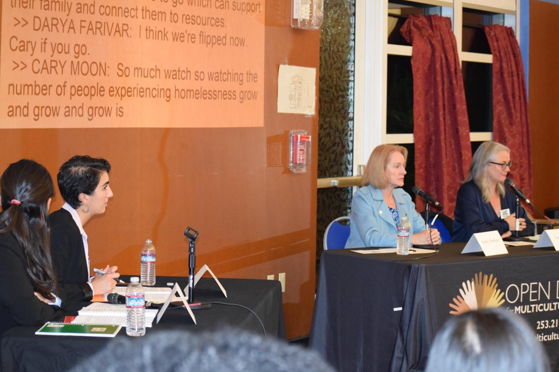 The mayoral candidate forum held by Open Doors, a Voter Education Fund grantee. Photo courtesy of King County Elections.
