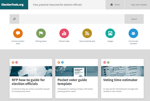 The ElectionTools.org home page