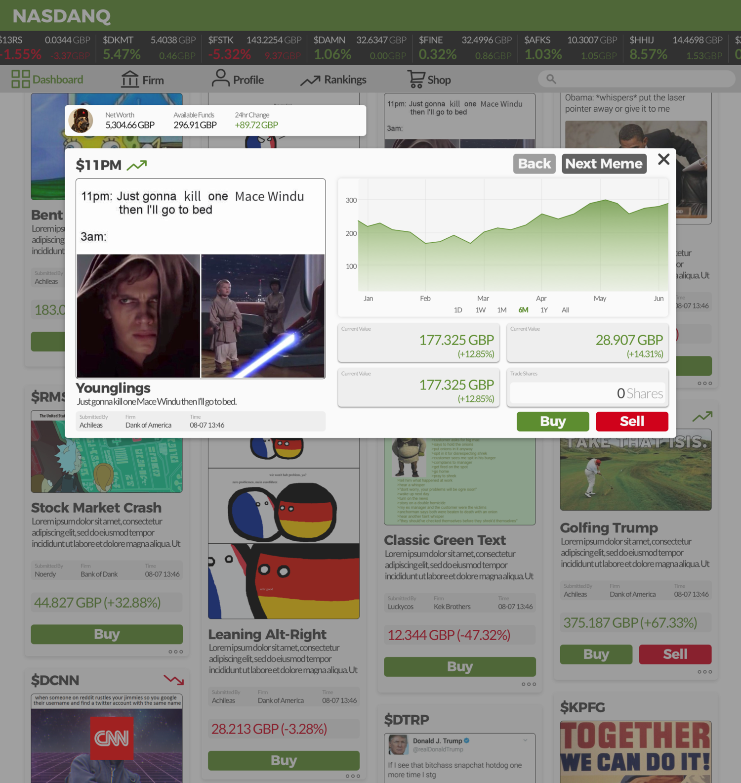 Trading   The Posts dashboard allows users to upload photos directly from their camera roll. Not including the ability to link from images from the internet is intended to increase original content by making reposting more difficult.