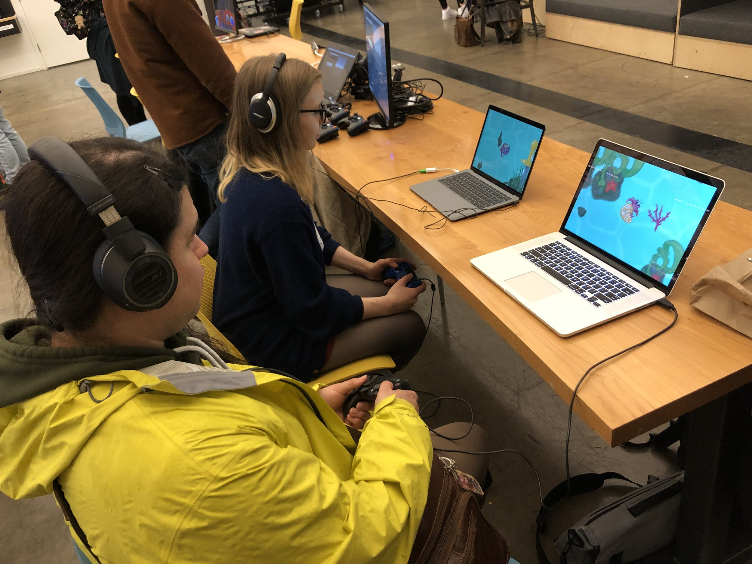 Lots of folks showed up to play our game at the PIGSquad Global Game Jam 2019 Showcase event!