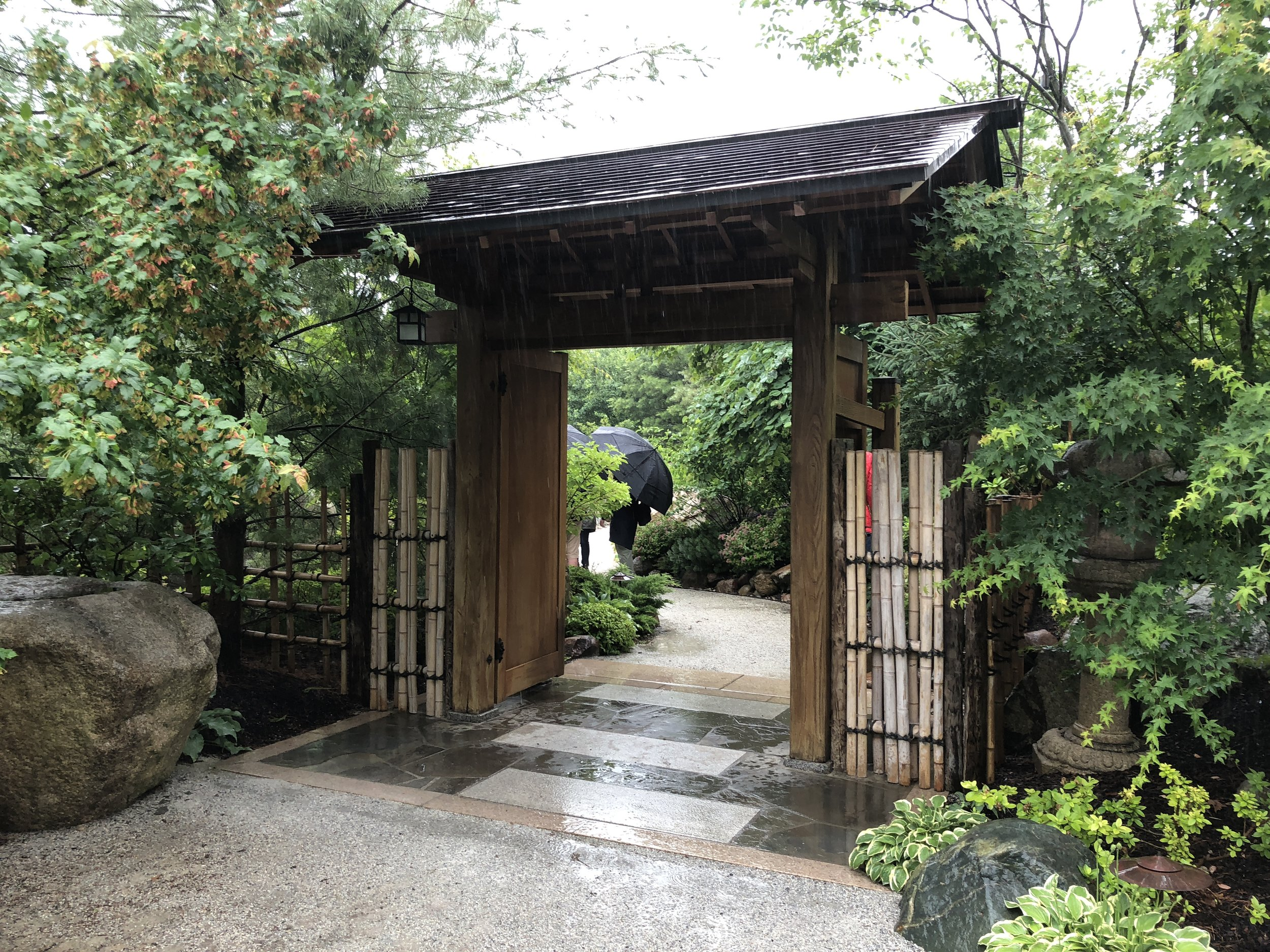The Japanese Garden, within the Miejer Garden, was a highlight for our team.  Rainy weather did not deter us from looking at every detail, stepping on every stepping stone, and wondering every path and trail.