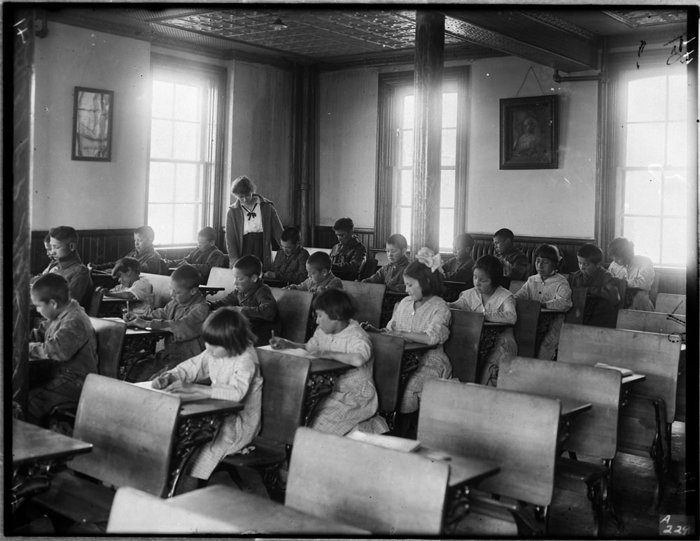 Indigenous children at residential school, 1946