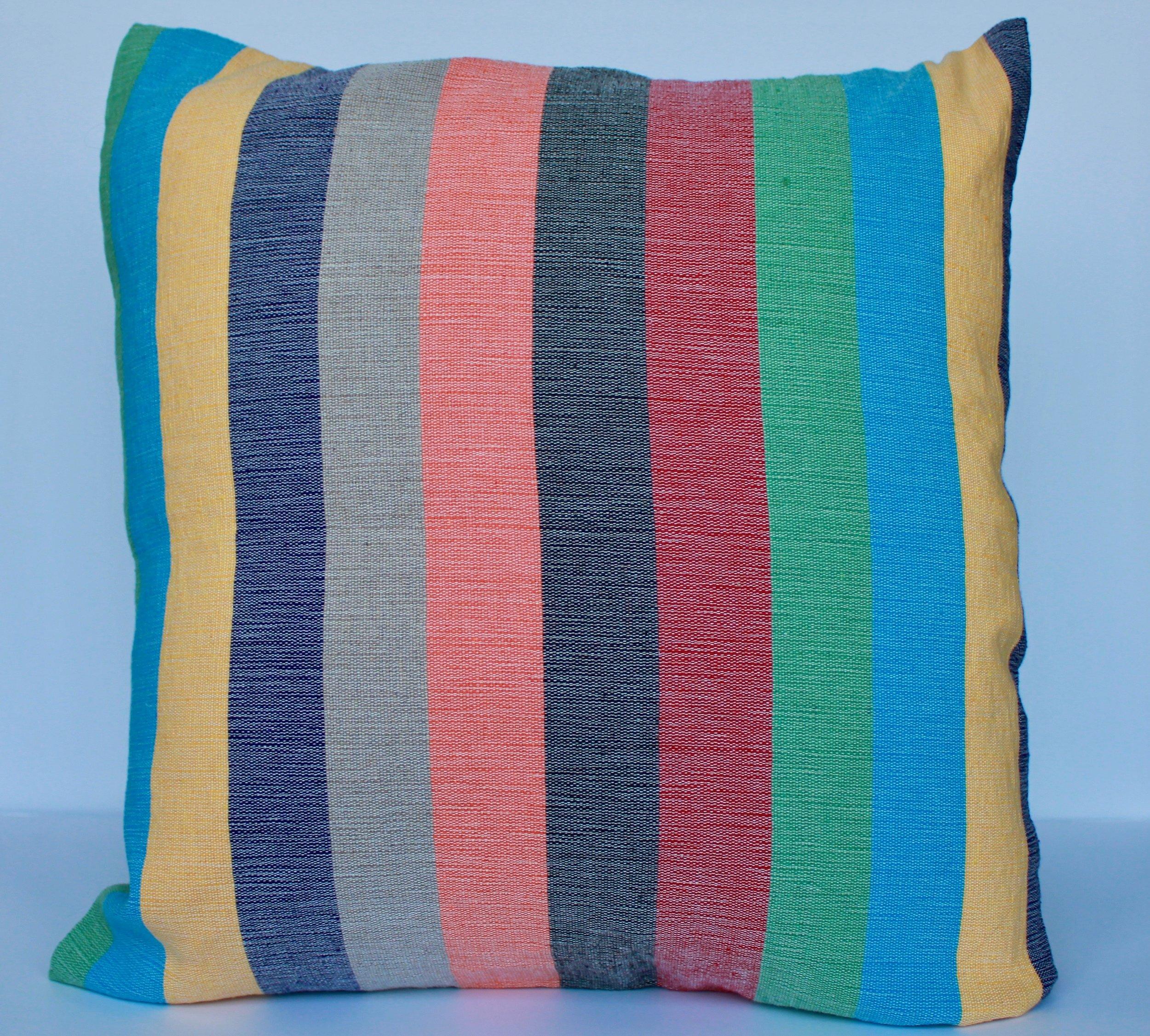 Cotton stripped cushion