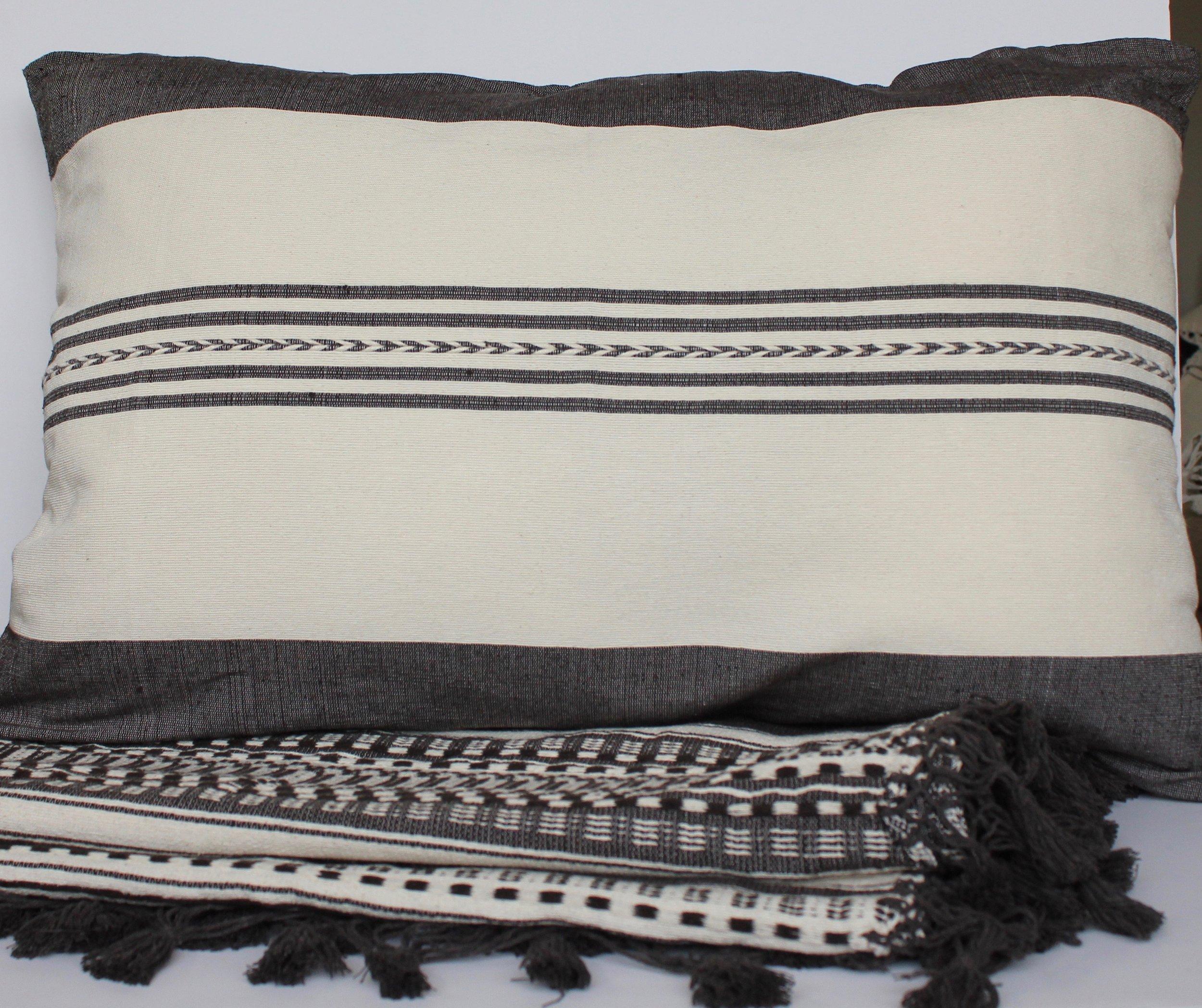 Cushion and cotton throw