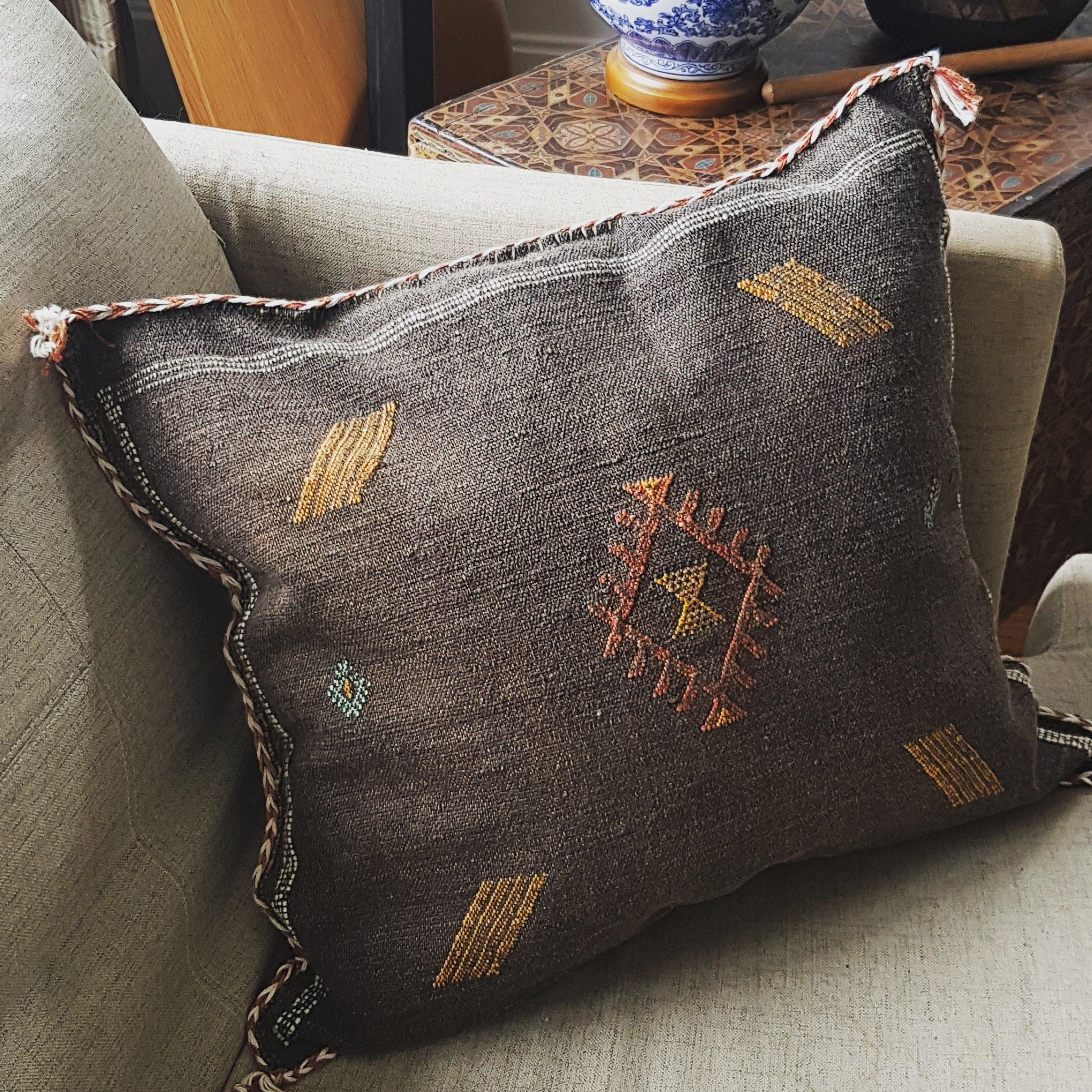 Sabra Cushion in brown