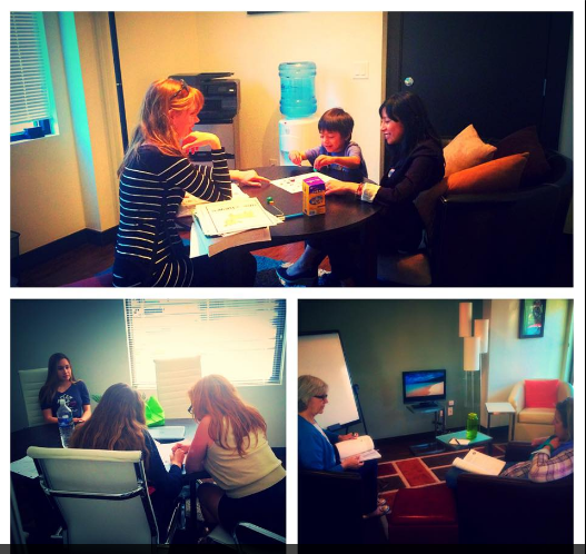 Portuguese, French, and German lessons occurring simultaneously in our Boulder, Colorado office