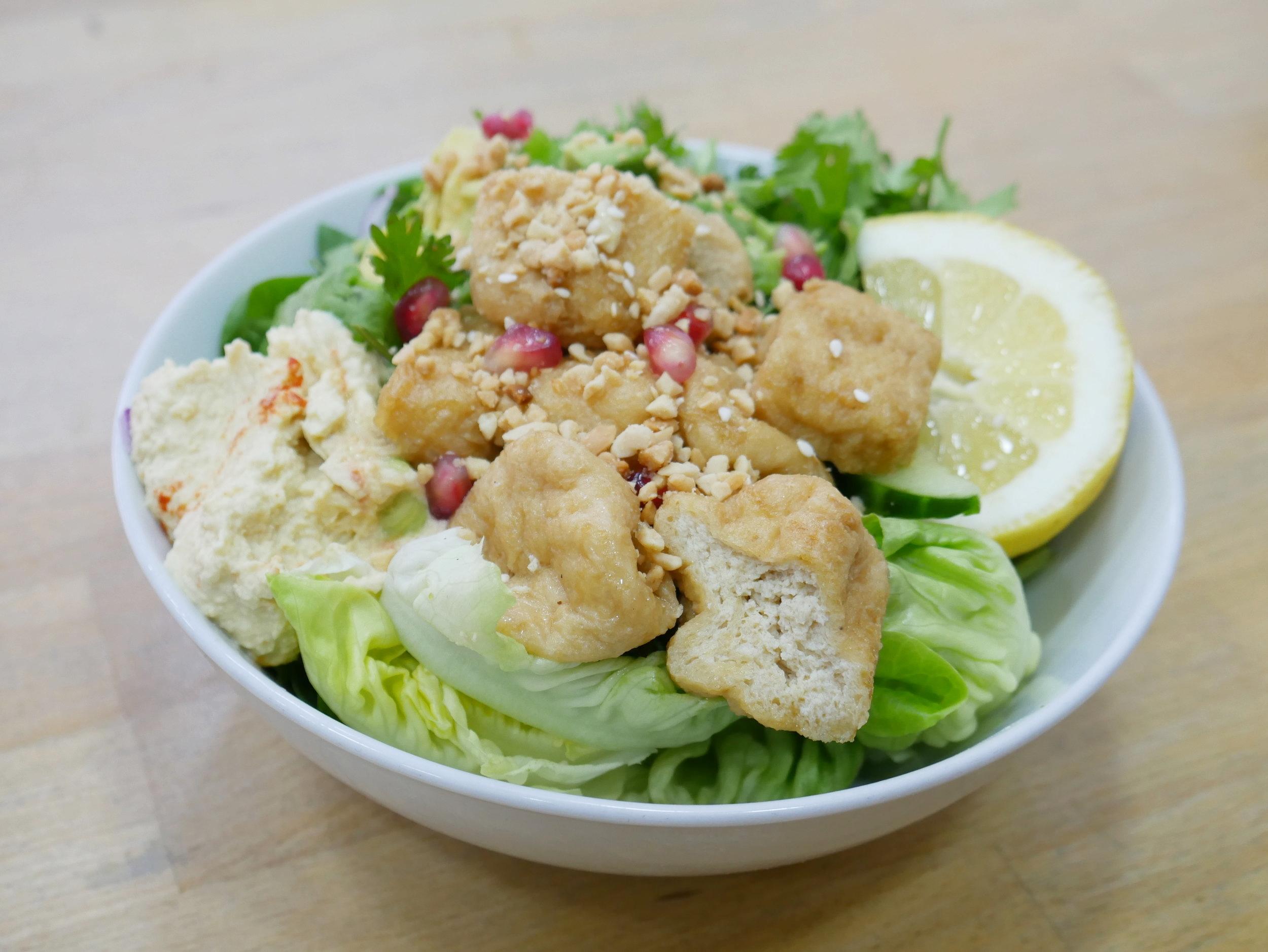 Sesame Garlic Tofu Naked Salad