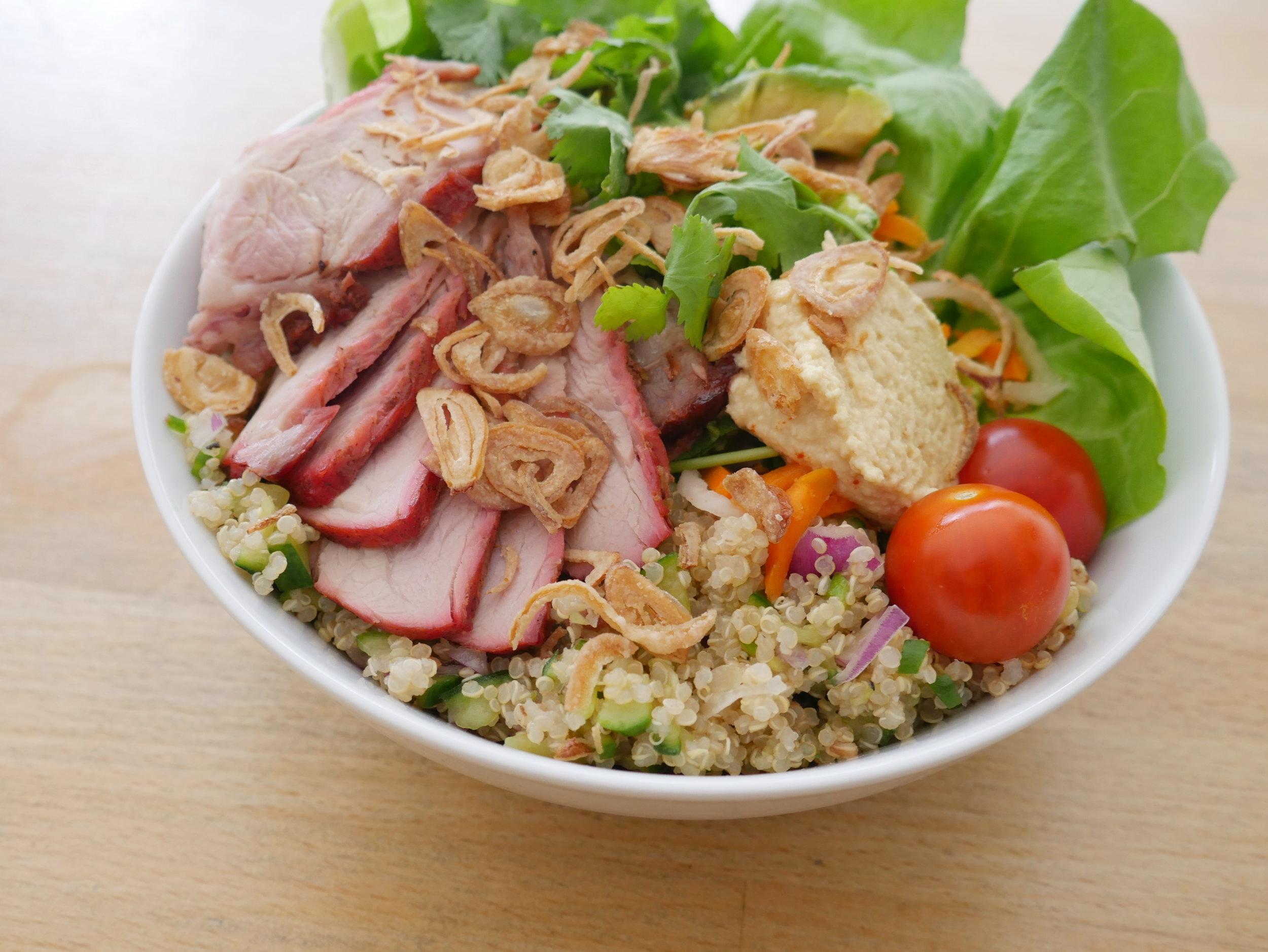 BBQ Roasted Pork Quinoa Salad