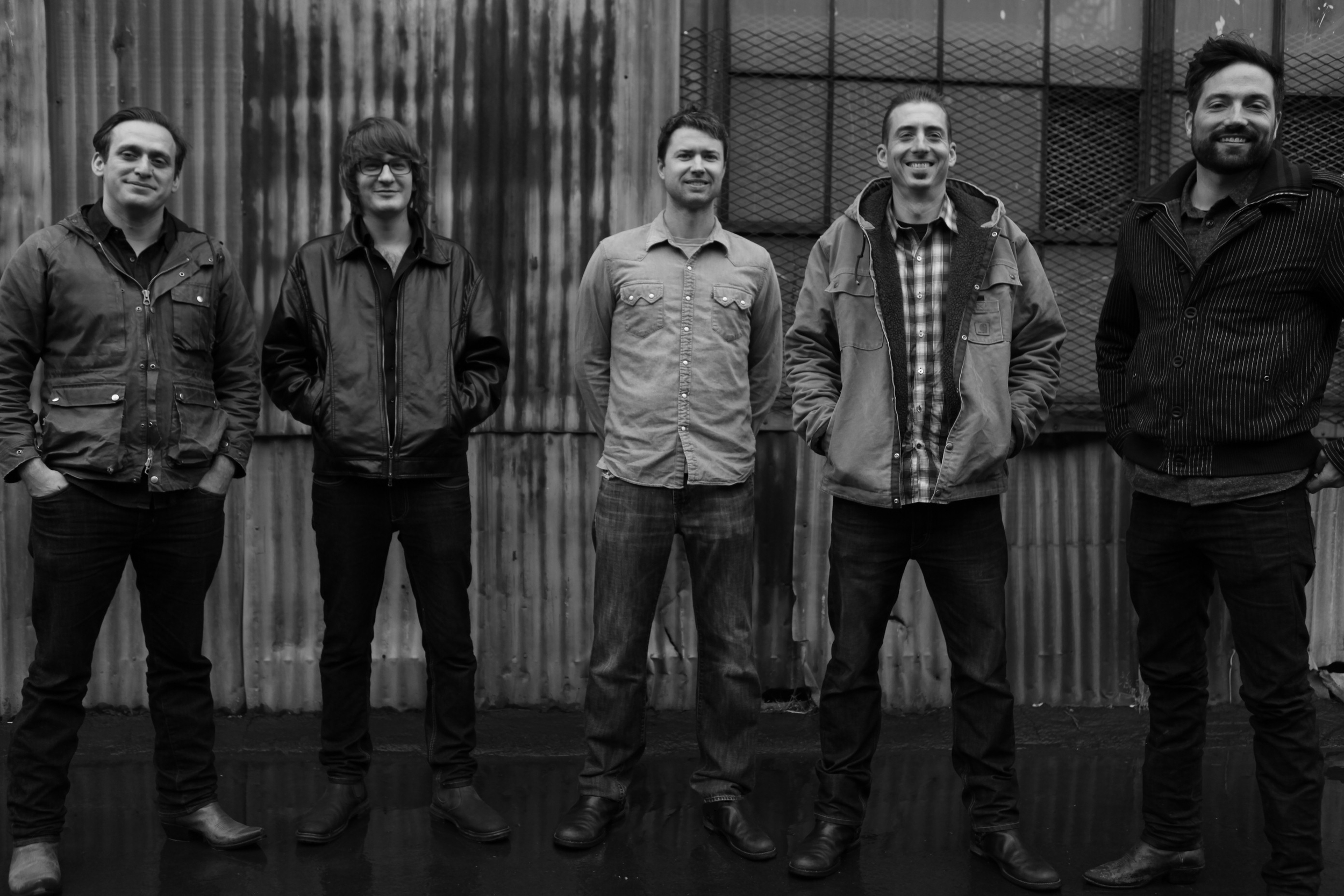 Left to right: Yoseff Tucker, Jan Purat, Andrew March, Billy Moore, Zach Sharpe.