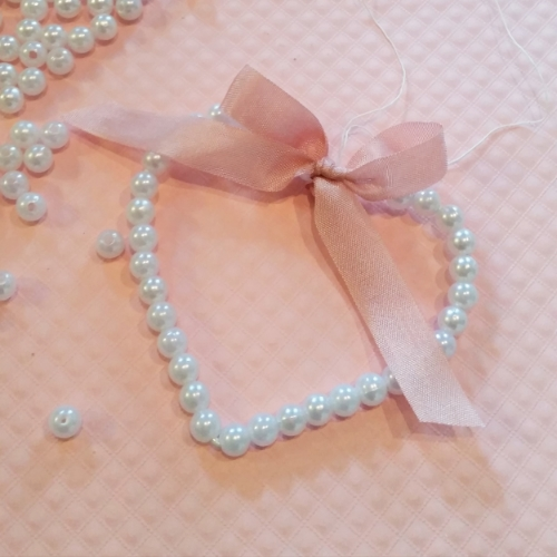 Or maybe with petal pink seam binding? so pretty!