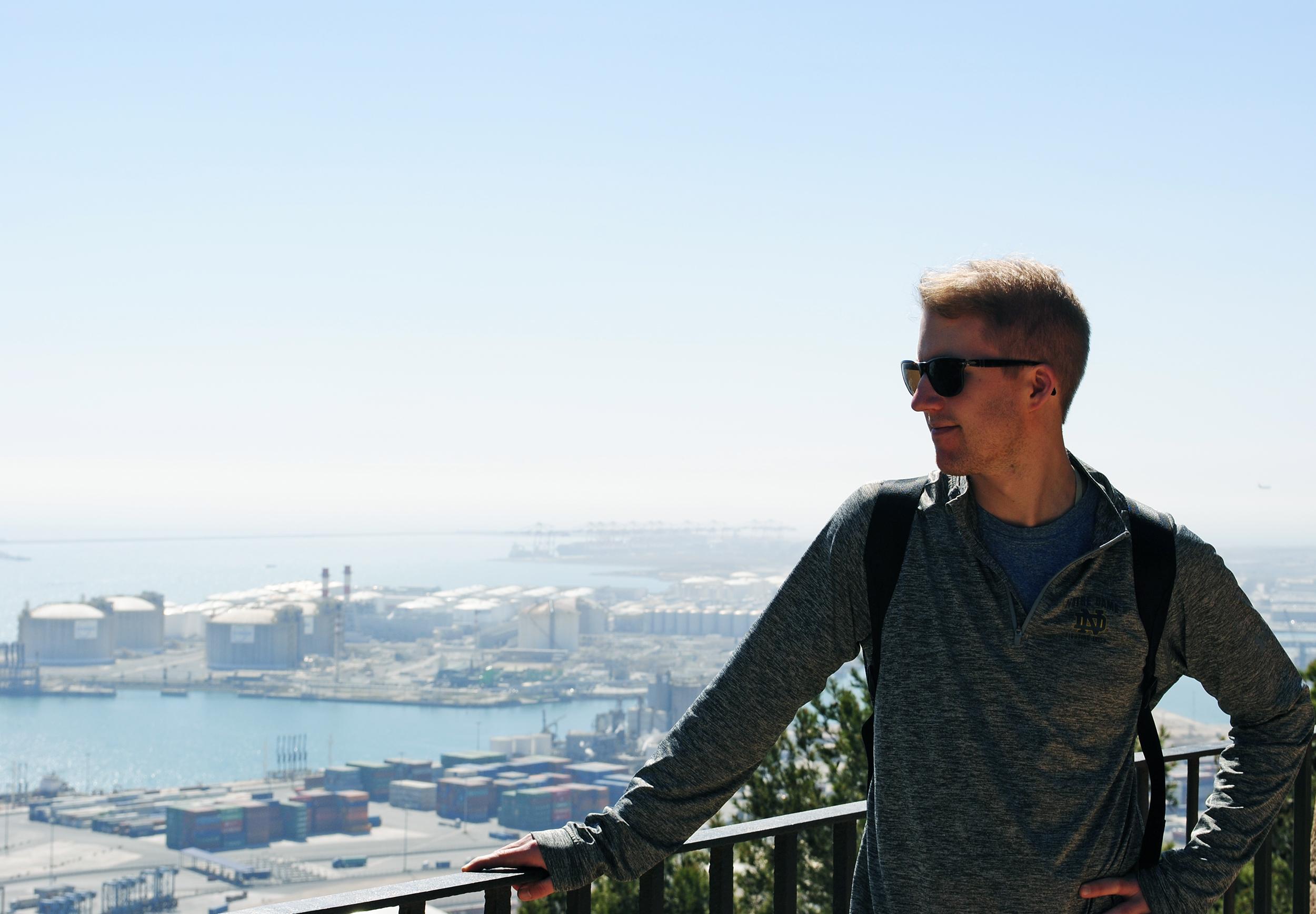 Harbor views from Montjuic