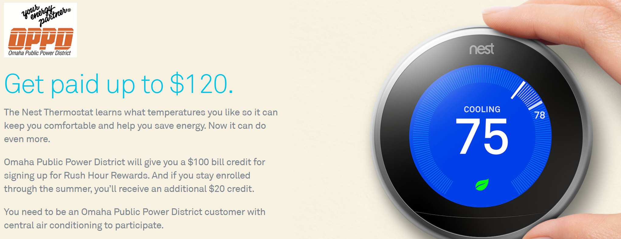 Certified Nest Pros - OPPD credits your bill $120 for installing a Nest Thermostat in your home!