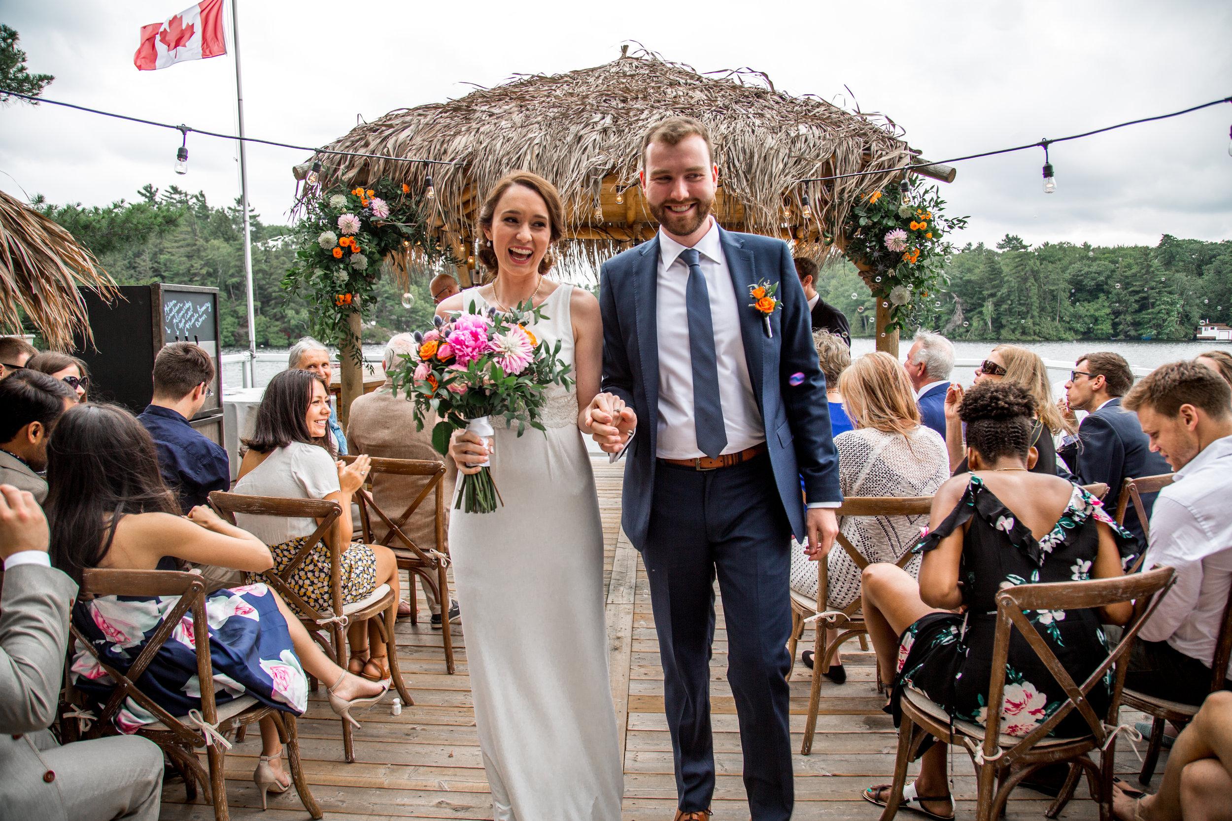 Happy Bride and Groom ©Michelle Liane