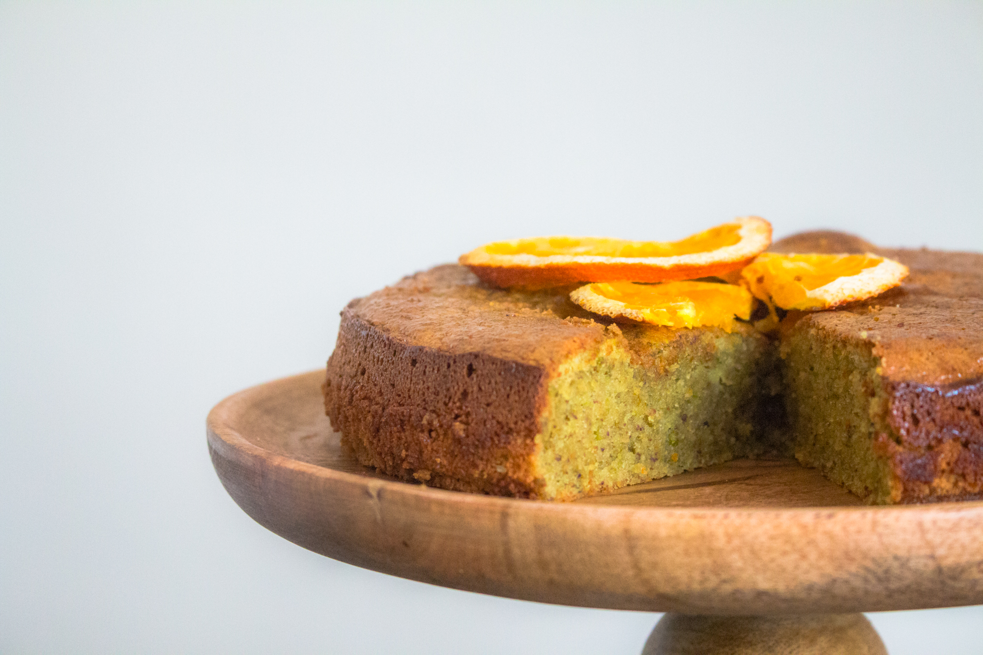 Pistachio and orange cake - gluten and dairy free