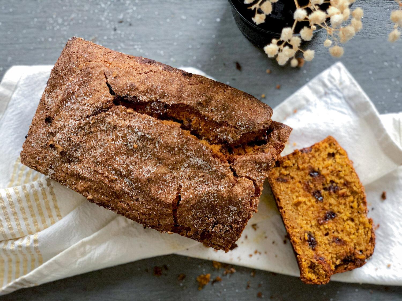 Ras El Hanout and chocolate chunk pumpkin bread