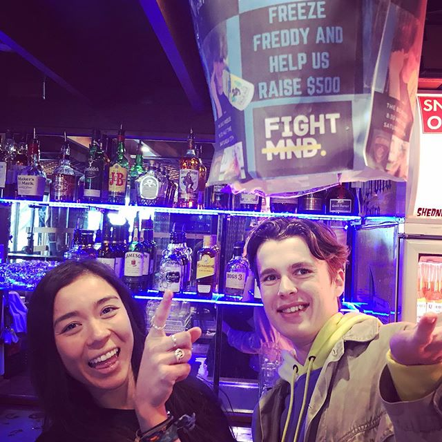 The countdown (or up) is on for the Big Buller Freeze!  Drop those donations in the bucket to dunk our beautiful bartenders, Renee and Freddy tomorrow night at 8.30pm
