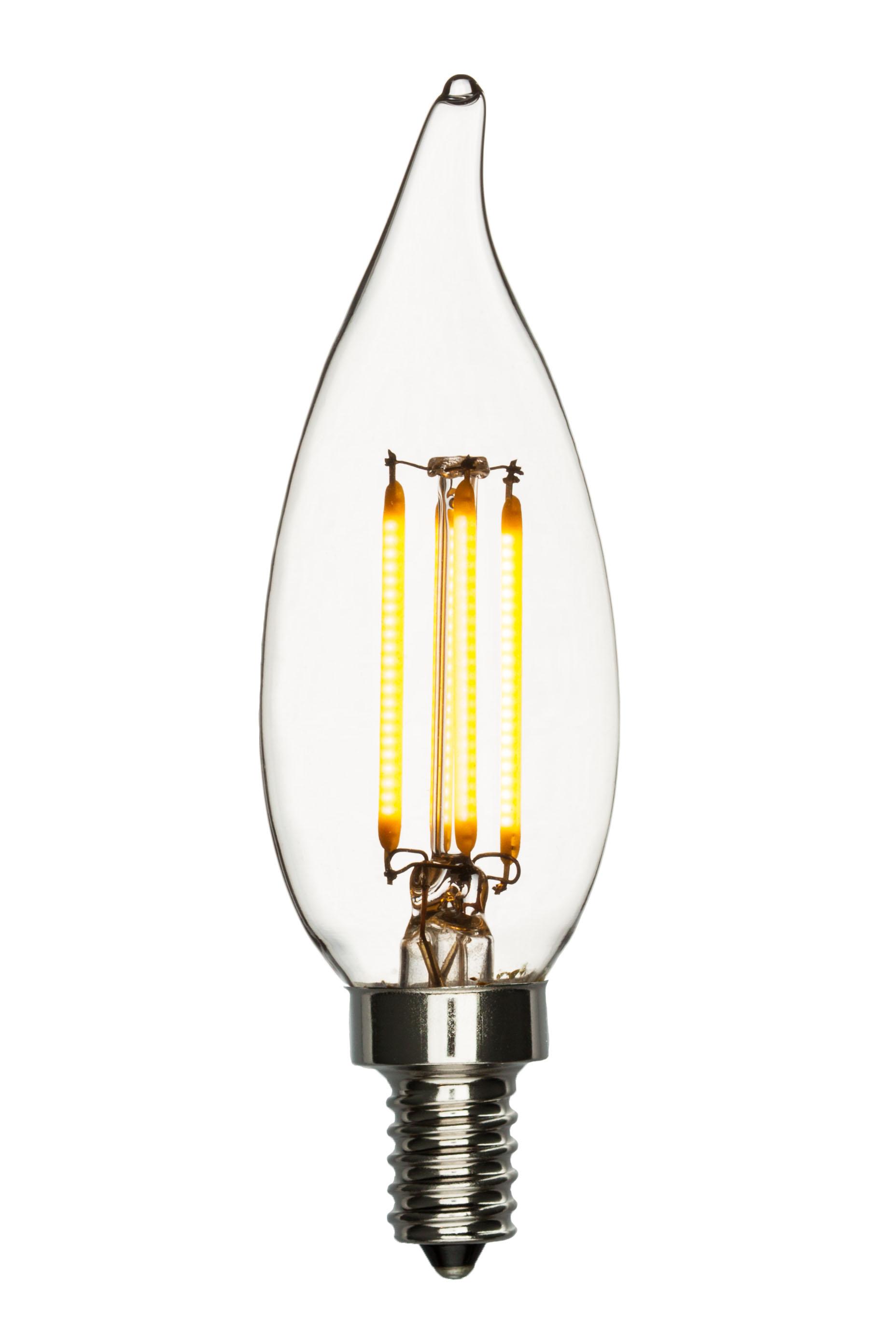 led chandelier bulb bent tip