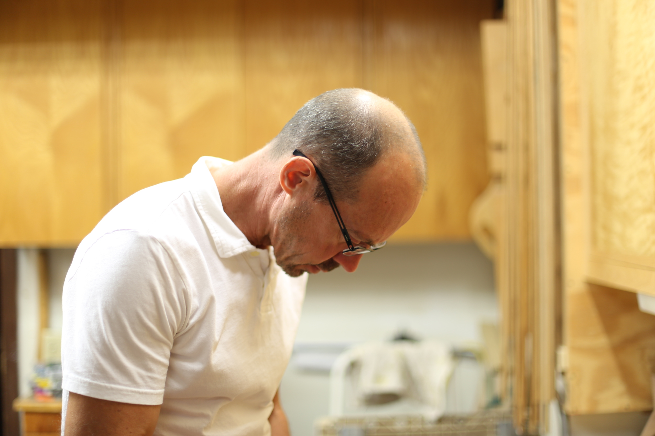 Pictured: Owner,Brian Sullivan, working in the company shop