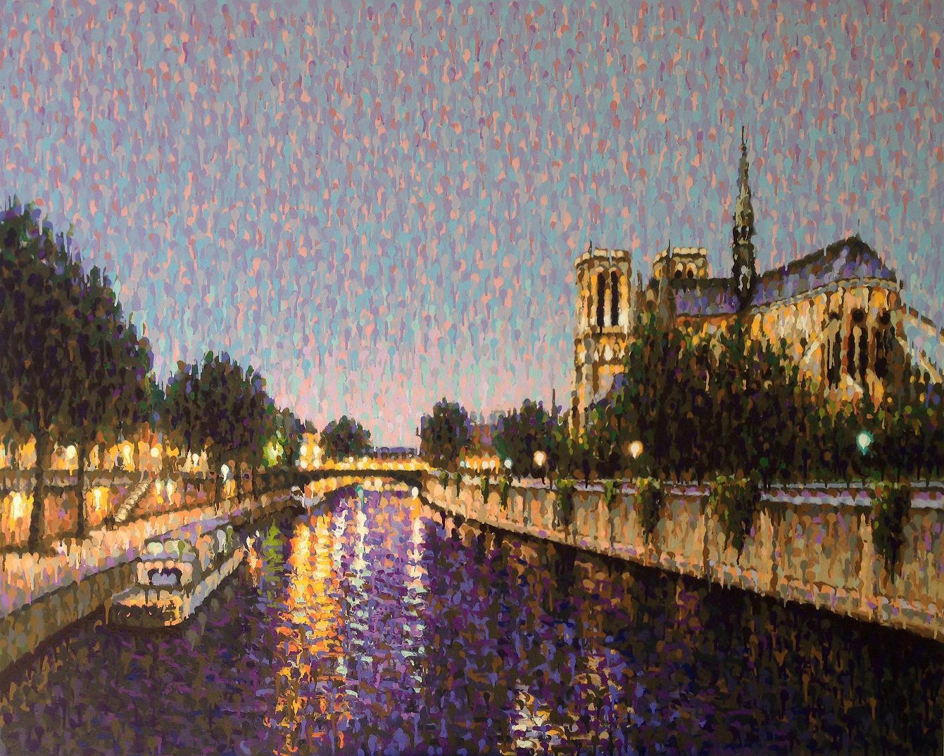James Cochran , Notre Dame, Paris 150 x 120 cm