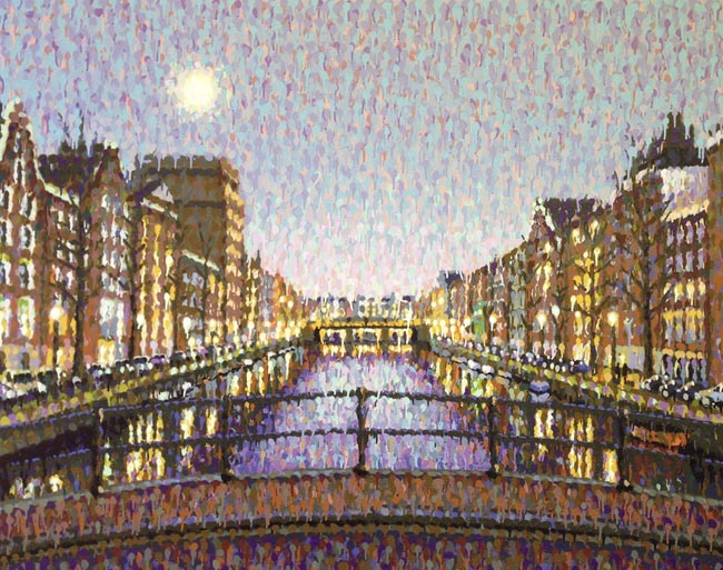 James Cochran , Amsterdam moon 150 x 120 cm