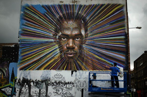James Cochran , Usain Bolt wall London, England