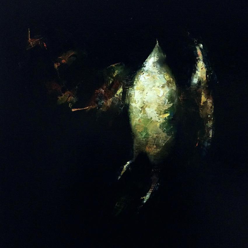 Paul W Ruiz , Our hunting sky Oil on linen, 51 x 51 cm, available