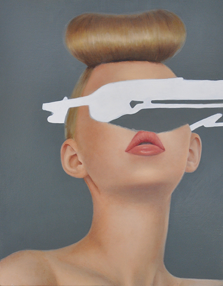 Eugenia Raftopoulos , Feminine Masquerade Oil on linen, 57 x 71 cm, available