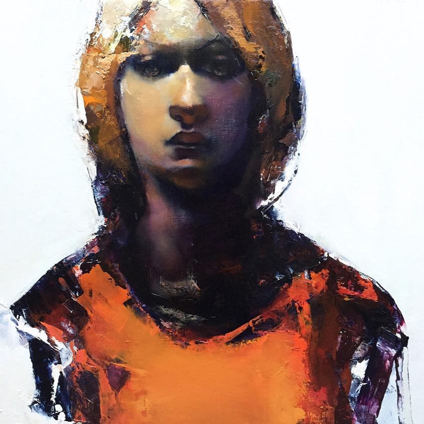 Paul W Ruiz , Wachter oil on linen, 71 x 71 cm, available