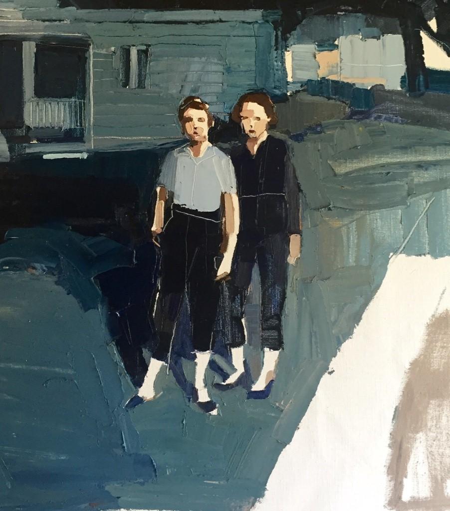 Clara Adolphs ,Garden Path   56 x 51 cm, oil on linen