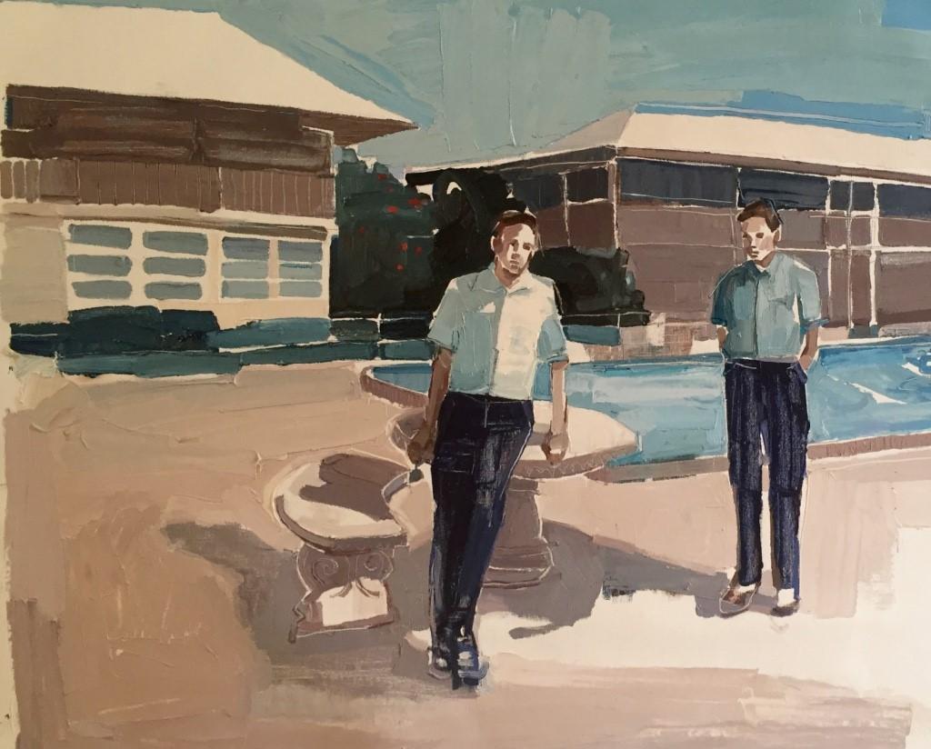 Clara Adolphs , September Pool 29 x 87 cm, oil on linen
