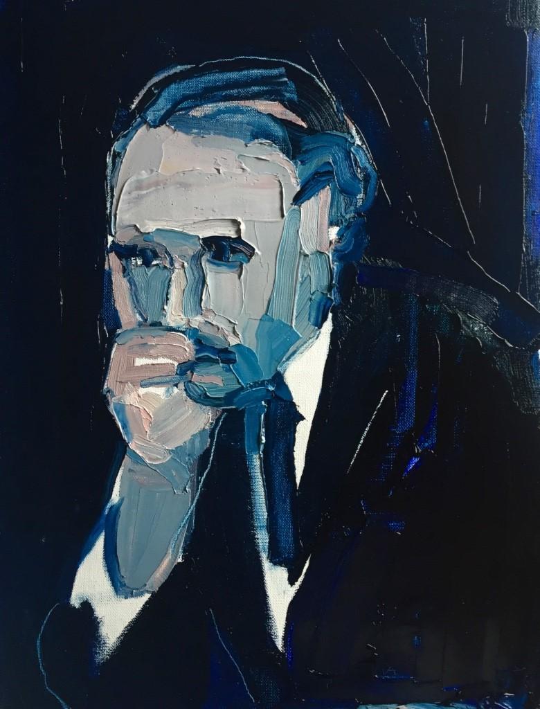 Clara Adolphs , Midnight Man 46 x 33 cm, oil on linen