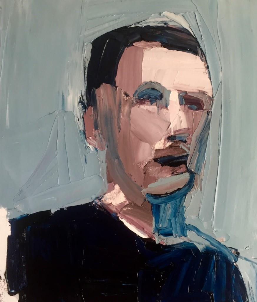 Clara Adolphs , Daniel 36 x 31 cm, oil on linen