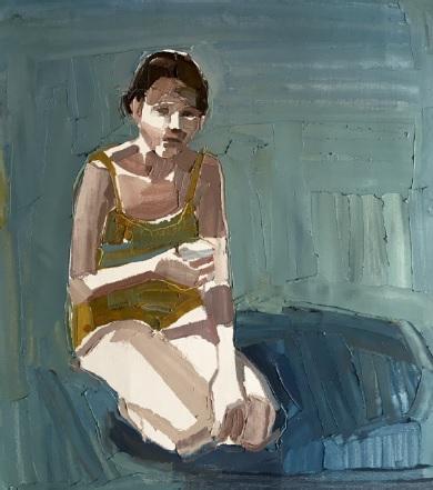 Clara Adolphs, Lawn Shadows 49 x 53 cm, oil on linen