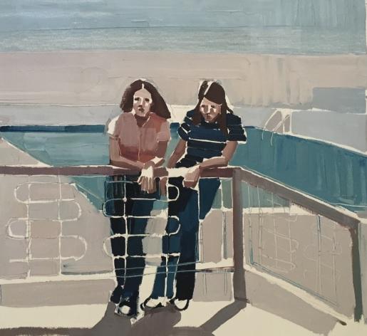 Clara Adolphs, Holiday Pool 67 x 62 cm, oil on linen