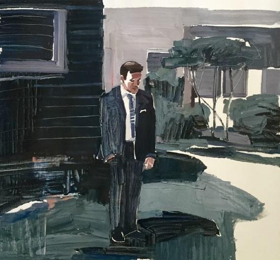Clara Adolphs, Mind Games 86 x 79 cm, oil on linen