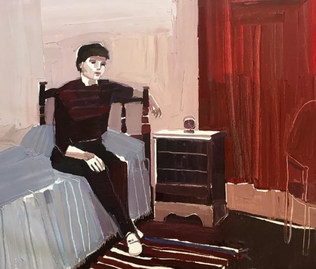 Clara Adolphs, Teen Angel 88 x 71 cm, oil on linen